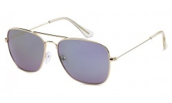 Square Aviator Sunglasses Revo-Mirror 8AF112-RV