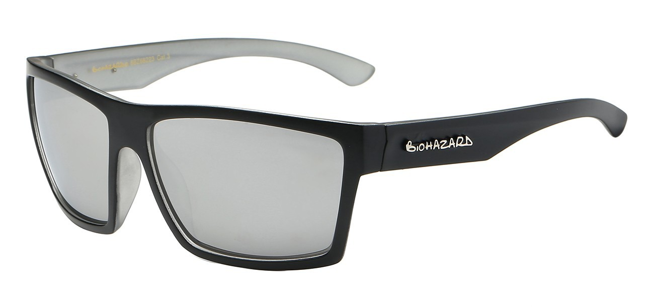 bd24ebda23d Biohazard Sunglasses 66223 Trendy Urban Casual Square Polymer Wrap Unisex  ...