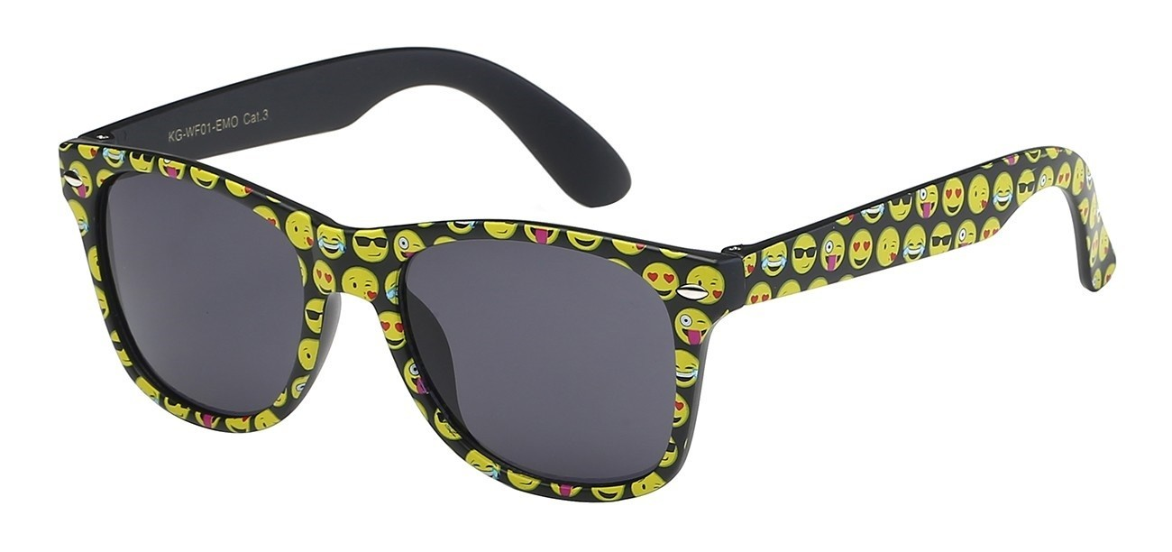 d76cd7e663 Junior Retro Rewind Cute and Fun Emoji Sunglasses WF01
