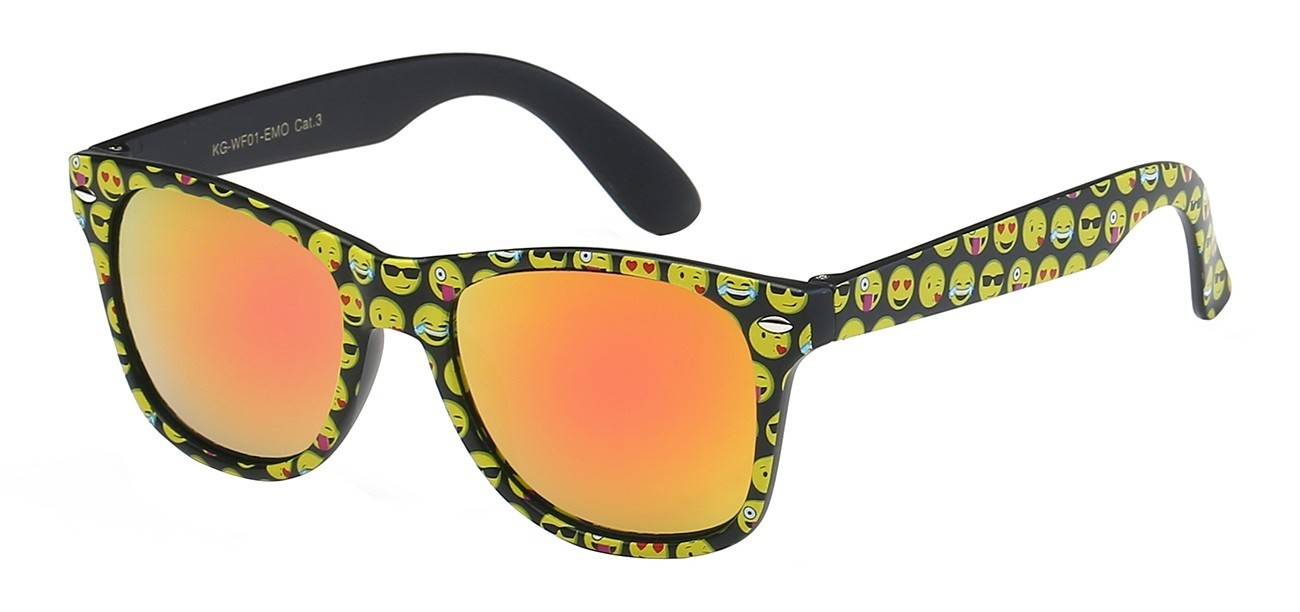 d76cd7e663 Junior Retro Rewind Cute and Fun Emoji Sunglasses WF01
