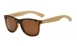 Polarized Bamboo Wood Wayfarer Sunglasses 89001
