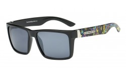 Biohazard Decorated Temple Sunglasses 66244