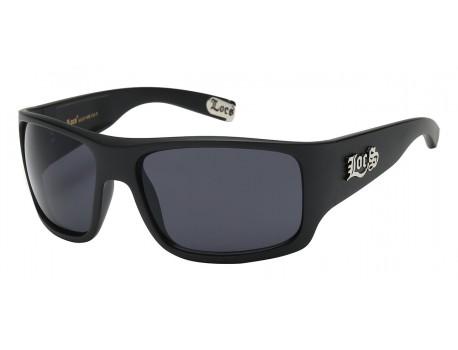 Shiny Black Frame Wrap Sunglasses loc91107-mb