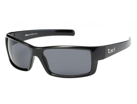 Locs Shiny Black Sports Sunglasses loc91108-bk
