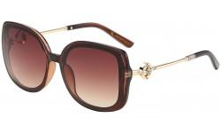 Rhinestone Square Frame Sunglasses rs1977