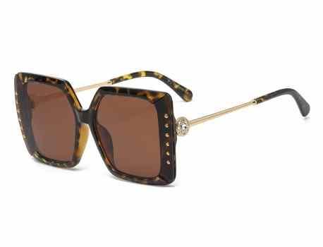 Rhinestone Square Frame Sunglasses rs2019
