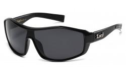 Locs Panel Wrap Sunglasses loc91154-bk