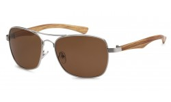 Manhattan Polarized Wood Grain Aviator PZ-MH88040